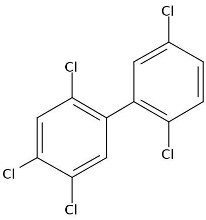 Chemical Structure for 2,2',4,5,5'-Pentachlorobiphenyl