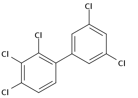 Chemical Structure for 2,3,3',4,5'-Pentachlorobiphenyl Solution