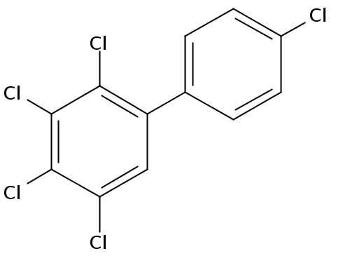 Chemical Structure for 2,3,4,4',5-Pentachlorobiphenyl