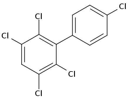 Chemical Structure for 2,3,4',5,6-Pentachlorobiphenyl