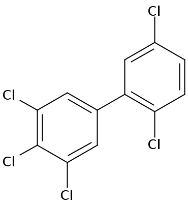 Chemical Structure for 2',3,4,5,5'-Pentachlorobiphenyl