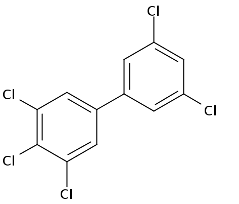 Chemical Structure for 3,3',4,5,5'-Pentachlorobiphenyl