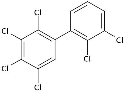 Chemical Structure for 2,2',3,3',4,5-Hexachlorobiphenyl