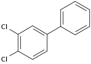 Chemical Structure for 3,4-Dichlorobiphenyl Solution