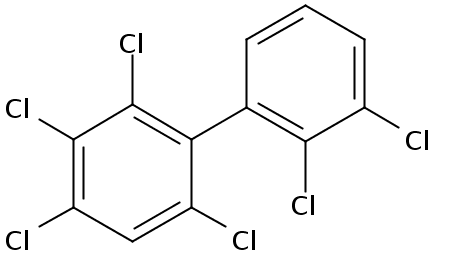 Chemical Structure for 2,2',3,3',4,6-Hexachlorobiphenyl Solution