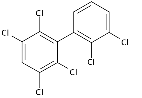 Chemical Structure for 2,2',3,3',5,6-Hexachlorobiphenyl