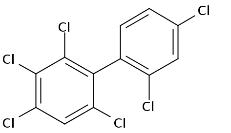 Chemical Structure for 2,2',3,4,4',6-Hexachlorobiphenyl Solution