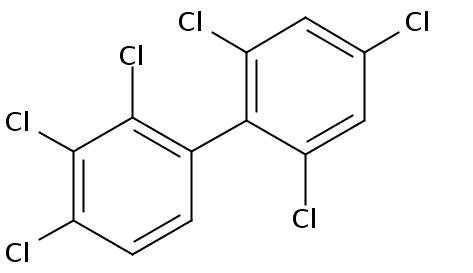 Chemical Structure for 2,2',3,4,4',6'-Hexachlorobiphenyl