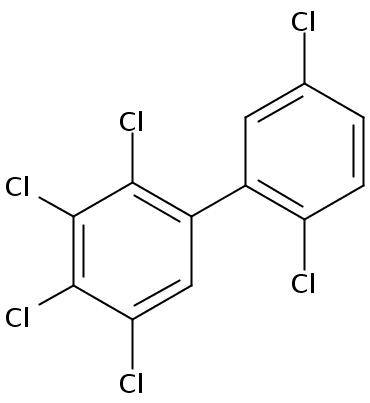 Chemical Structure for 2,2',3,4,5,5'-Hexachlorobiphenyl