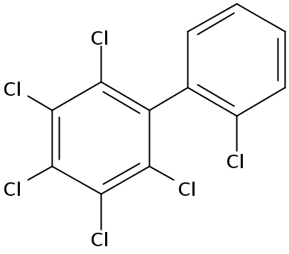 Chemical Structure for 2,2',3,4,5,6-Hexachlorobiphenyl