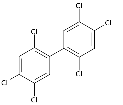 Chemical Structure for 2,2',4,4',5,5'-Hexachlorobiphenyl Solution