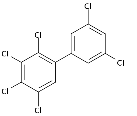 Chemical Structure for 2,3,3',4,5,5'-Hexachlorobiphenyl Solution