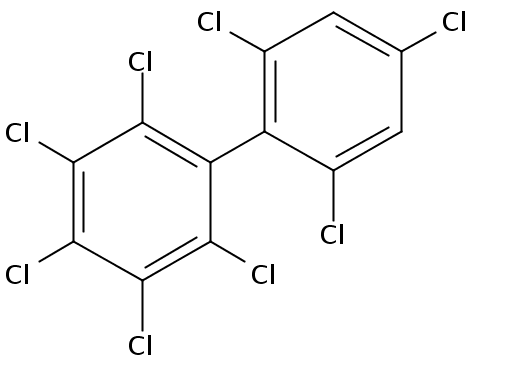Chemical Structure for 2,2',3,4,4',5,6,6'-Octachlorobiphenyl