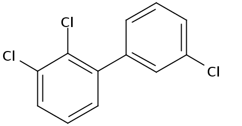Chemical Structure for 2,3,3'-Trichlorobiphenyl Solution