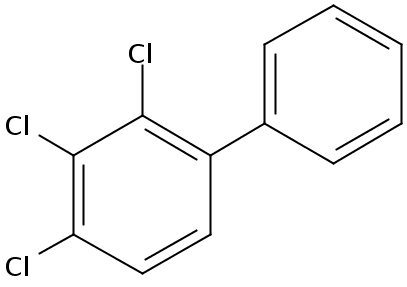 Chemical Structure for 2,3,4-Trichlorobiphenyl