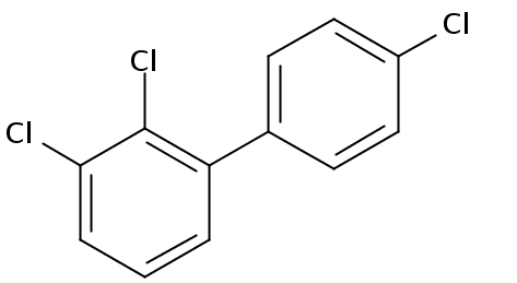 Chemical Structure for 2,3,4'-Trichlorobiphenyl Solution