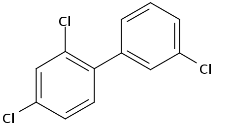 Chemical Structure for 2,3',4-Trichlorobiphenyl Solution