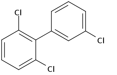 Chemical Structure for 2,3',6-Trichlorobiphenyl Solution