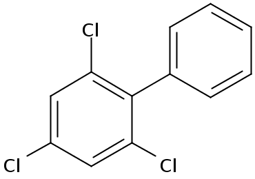 Chemical Structure for 2,4,6-Trichlorobiphenyl Solution