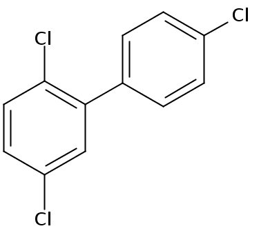 Chemical Structure for 2.4'.5-Trichlorobiphenyl Solution