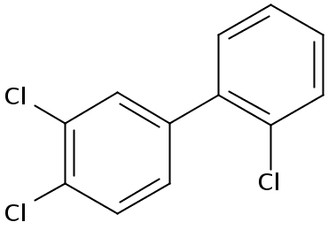 Chemical Structure for 2'.3.4-Trichlorobiphenyl Solution