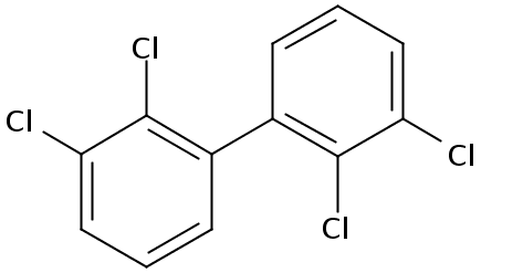 Chemical Structure for 2,2',3,3'-Tetrachlorobiphenyl Solution