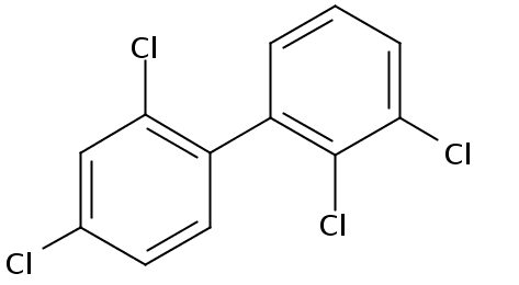 Chemical Structure for 2,2',3,4'-Tetrachlorobiphenyl