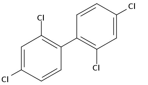 Chemical Structure for 2,2',4,4'-Tetrachlorobiphenyl