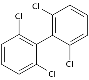 Chemical Structure for 2,2',6,6'-Tetrachlorobiphenyl