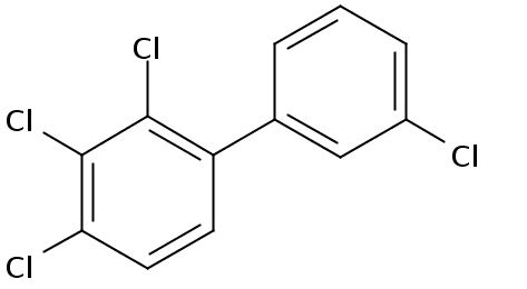 Chemical Structure for 2,3,3',4-Tetrachlorobiphenyl Solution