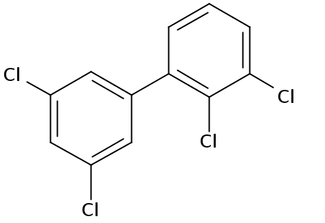 Chemical Structure for 2,3,3',5'-Tetrachlorobiphenyl