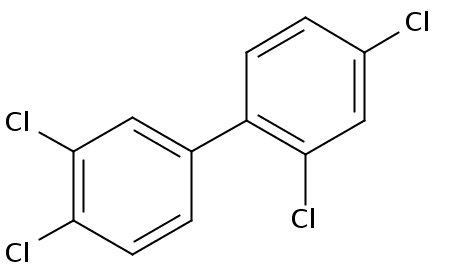 Chemical Structure for 2,3',4,4'-Tetrachlorobiphenyl Solution