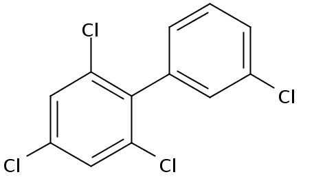 Chemical Structure for 2,3',4,6-Tetrachlorobiphenyl