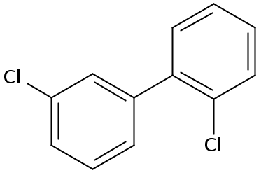 Chemical Structure for 2,3'-Dichlorobiphenyl Solution