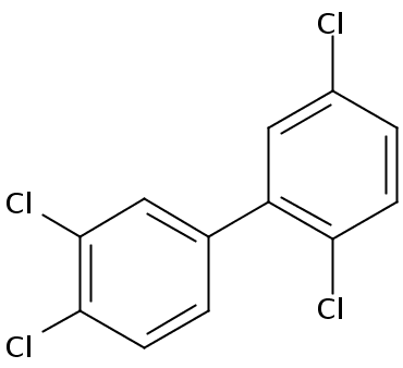 Chemical Structure for 2,3',4',5-Tetrachlorobiphenyl Solution