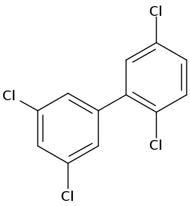 Chemical Structure for 2,3',5,5'-Tetrachlorobiphenyl Solution
