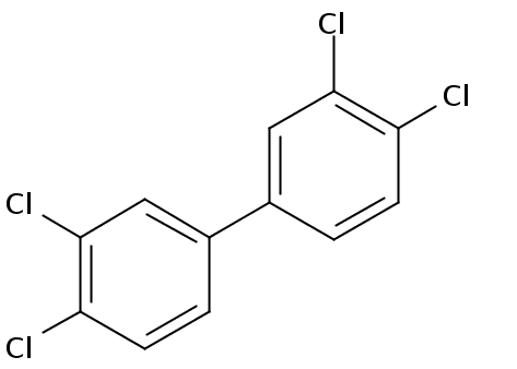 Chemical Structure for 3,3',4,4'-Tetrachlorobiphenyl Solution