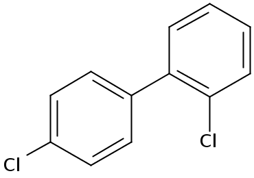 Chemical Structure for 2,4'-Dichlorobiphenyl