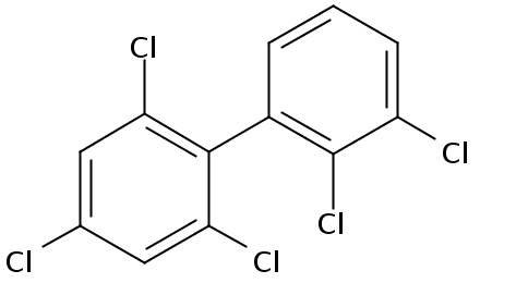Chemical Structure for 2,2',3',4,6-Pentachlorobiphenyl Solution