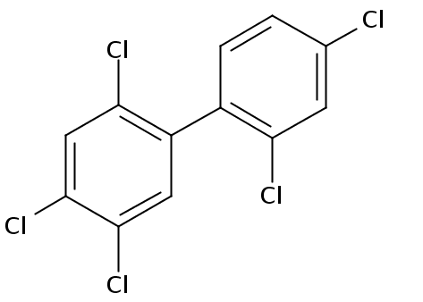 Chemical Structure for 2,2',4,4',5-Pentachlorobiphenyl