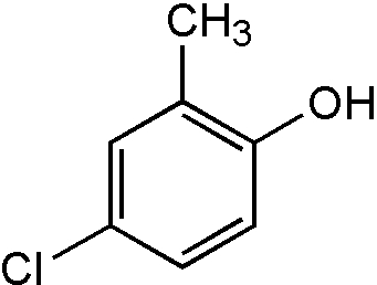 Chemical Structure for 4-Chloro-2-methylphenol