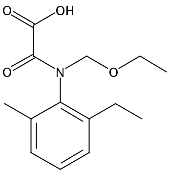Chemical Structure for Acetochlor OA Solution