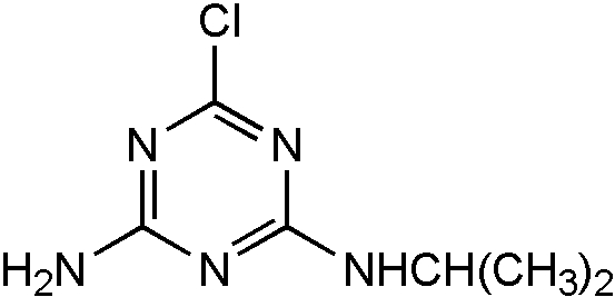 Chemical Structure for Atrazine desethyl