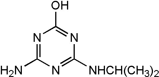 Chemical Structure for Atrazine desethyl-2-hydroxy