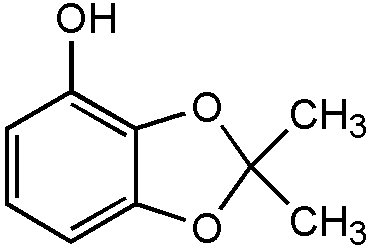 Chemical Structure for 2,2-Dimethyl-1,3-benzodioxole-4-ol