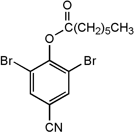 Chemical Structure for Bromoxynil-heptanoate