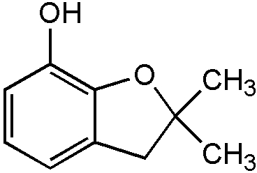 Chemical Structure for 2,3-Dihydro-2,2-dimethylbenzofuran-7-ol