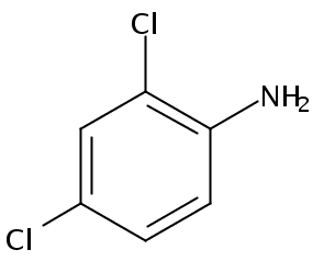 Chemical Structure for 2,4-Dichloroaniline