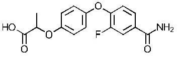 Chemical Structure for Cyahalofop-amide