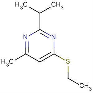 Chemical Structure for 4-(Ethylthio)-6-methyl-2-(1-methylethyl)-pyrimidine